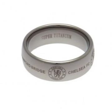 Chelsea FC Super Titanium Ring Small - Size R